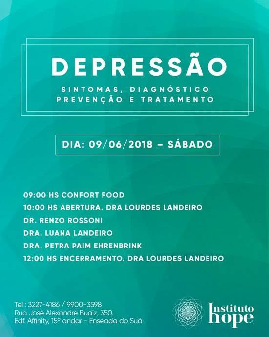 Evento discute depressão, principal causa de incapacidade no mundo