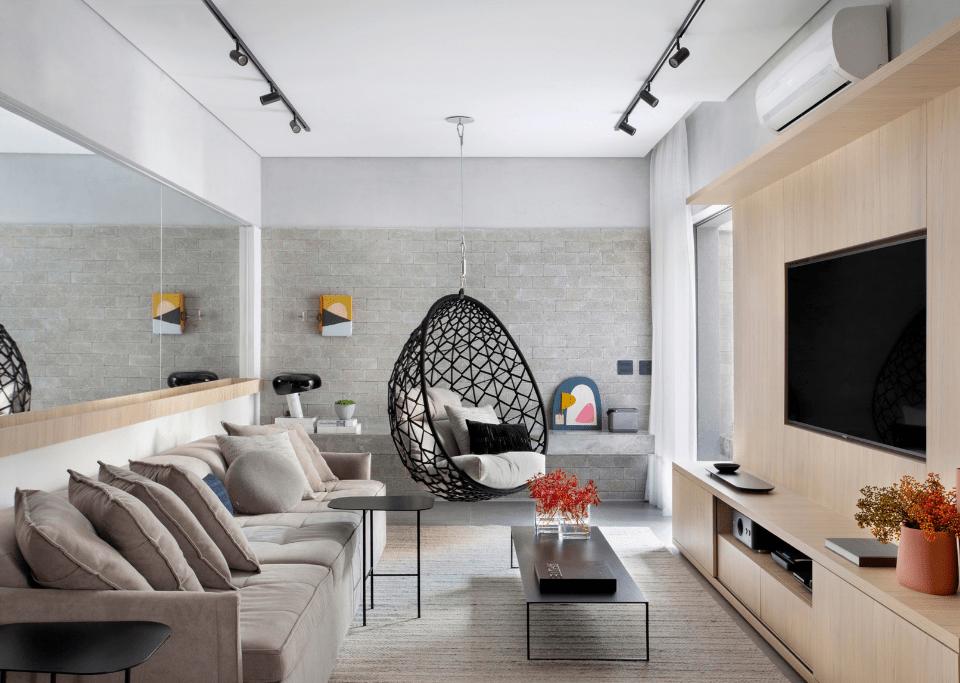 Apartamento com cara de casa