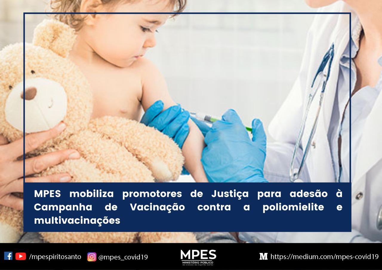 MPES mobiliza promotores de Justiça para adesão à campanha de vacinação