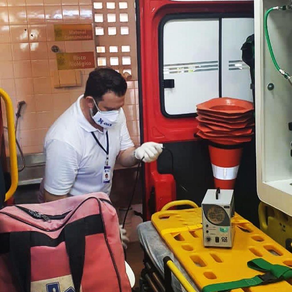 Ozônio é usado para descontaminar sala de vacinação contra Covid-19 e igreja em Vitória