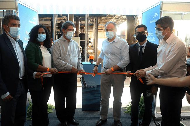 Prefeito da Serra participa da inauguração da maior planta de dessalinização de água do mar do País